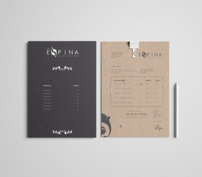 diseño de menu y carta