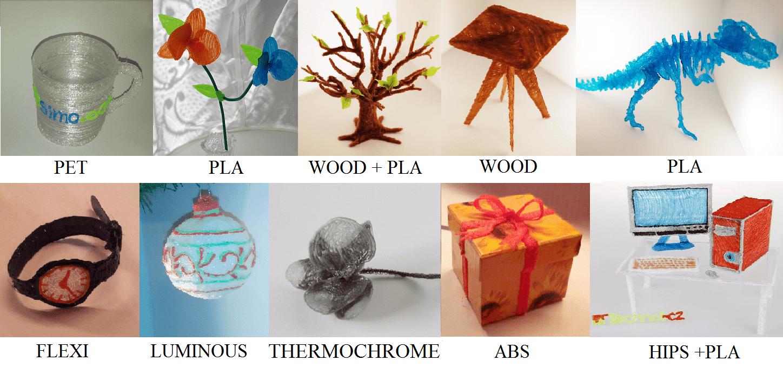 Diferentes materiales imprenta 3d